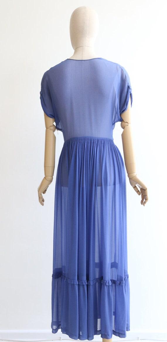 Vintage 1930's dress vintage 1930's silk chiffon … - image 8