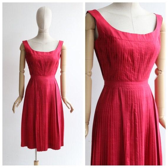 Vintage 1950's dress vintage 1950's raspberry pink