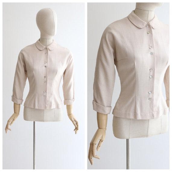 Vintage 1940's bouse vintage 1940's shirt 1940's l