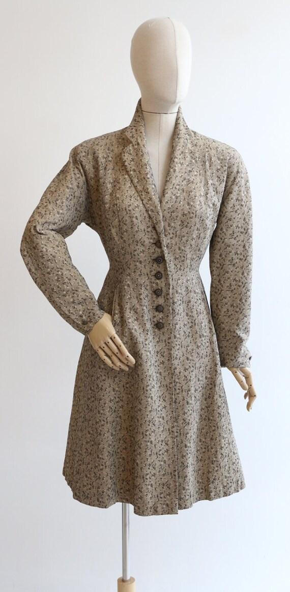 Vintage 1950's coat vintage 1950's gabardine coat… - image 2