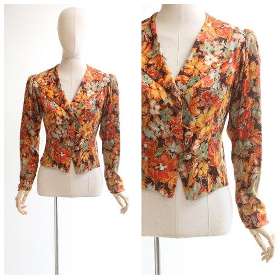 Vintage 1930's jacket vintage 1930's silk floral j
