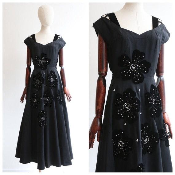 Vintage 1950's Victor Stiebel Dress vintage 1950's
