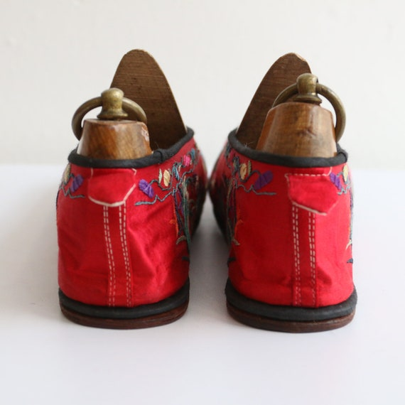 Vintage 1930's slippers vintage 1930's silk embro… - image 7