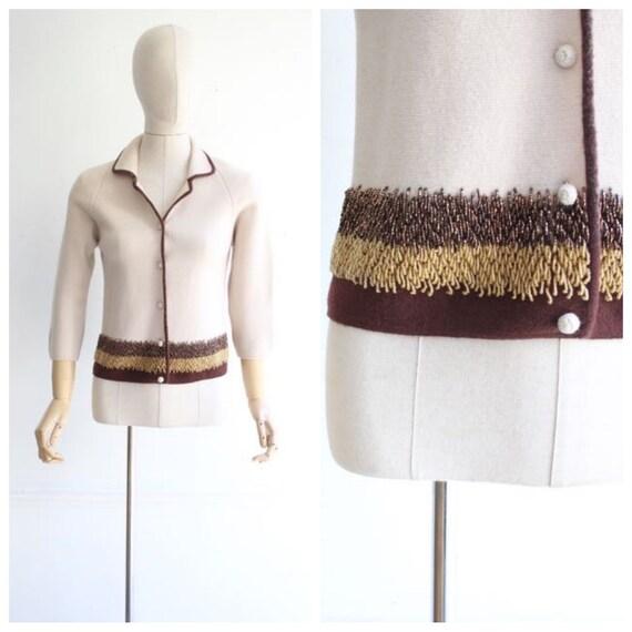 Vintage 1950's Cardigan 1950's vintage knitwear 19