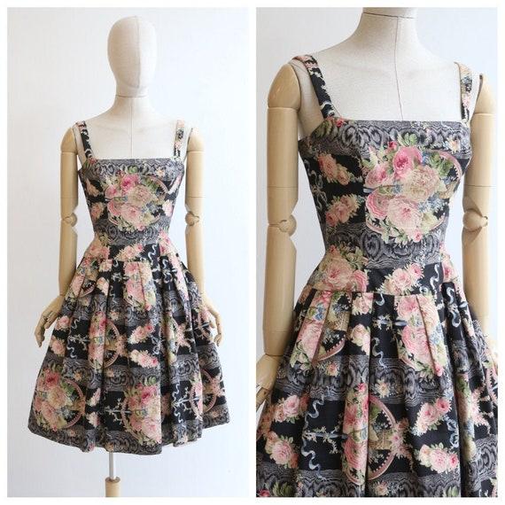 Vintage 1950's dress vintage 1950's floral dress o