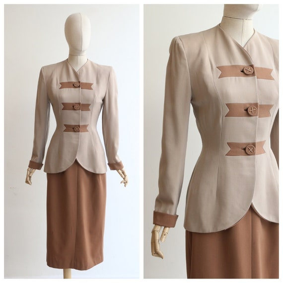 Vintage 1940's suit vintage 1940's skirt suit orig