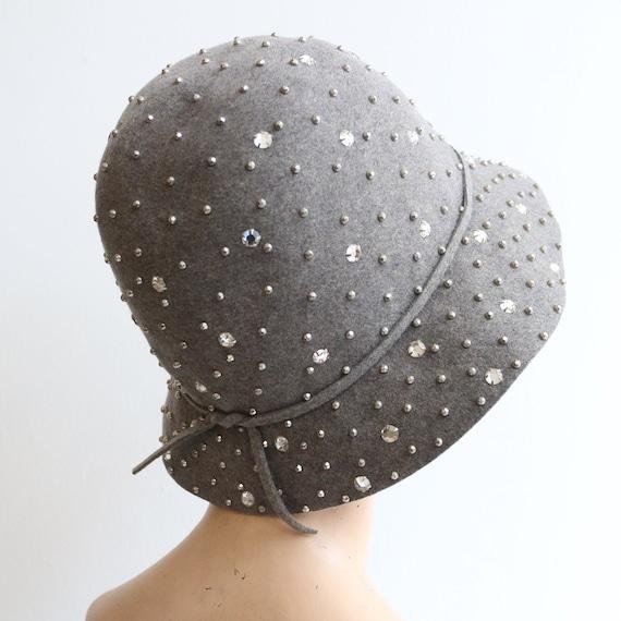 Vintage 1960's hat vintage 1960's grey felt 1960's