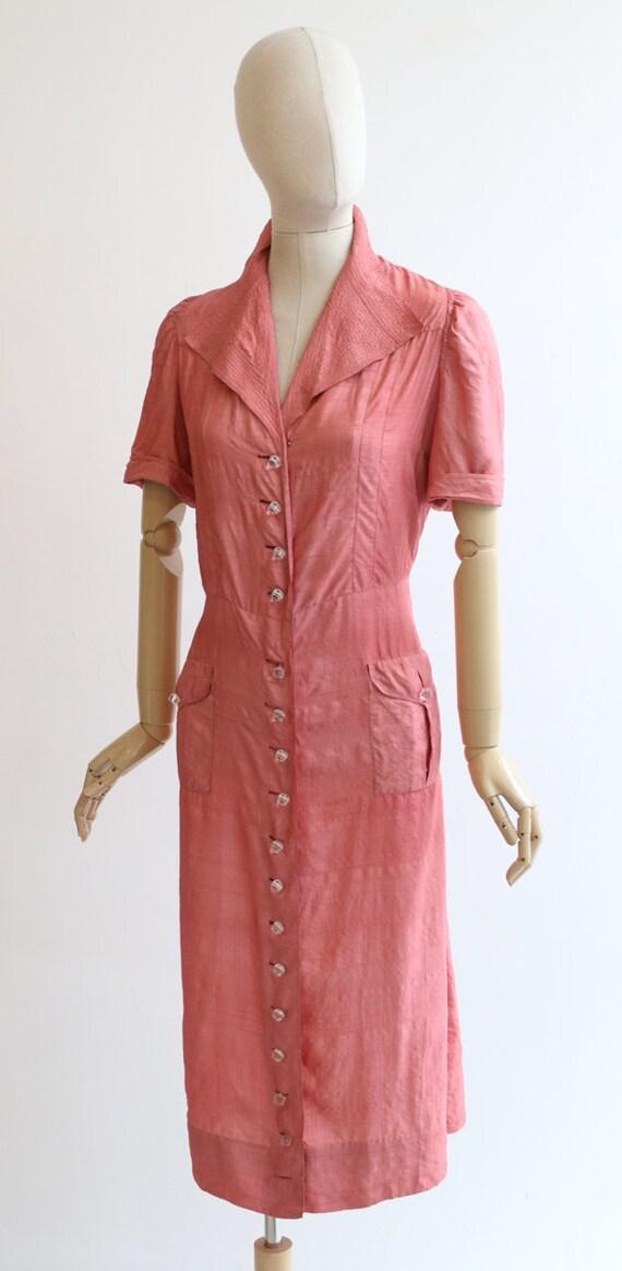 Vintage 1940's dress vintage 1940's blush pink si… - image 7