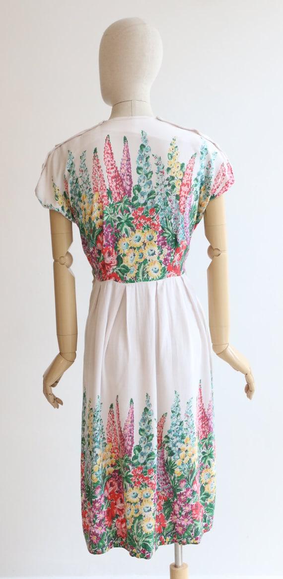 Vintage 1940's dress original 1940's cotton dress… - image 8
