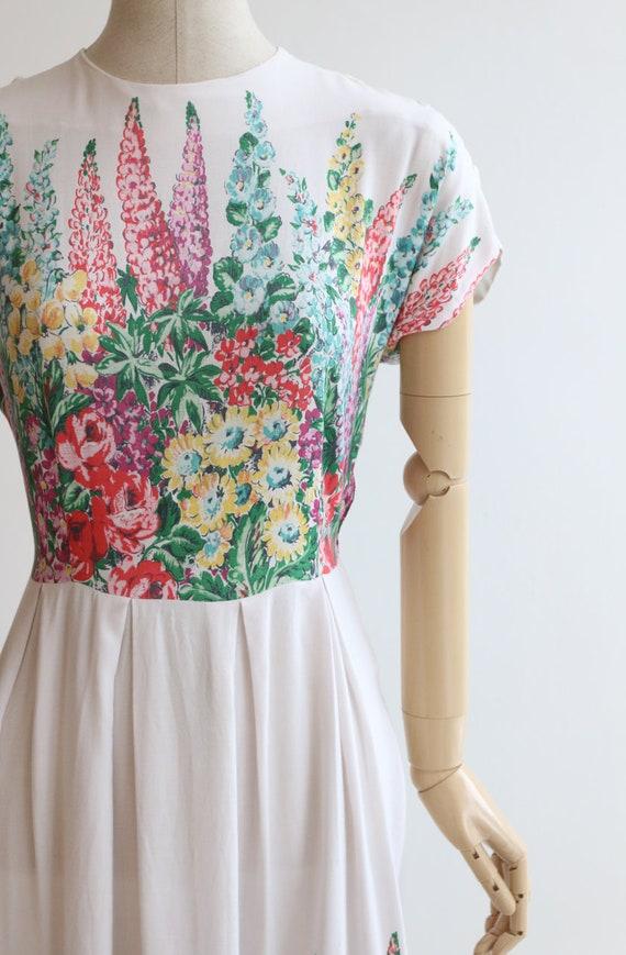Vintage 1940's dress original 1940's cotton dress… - image 4