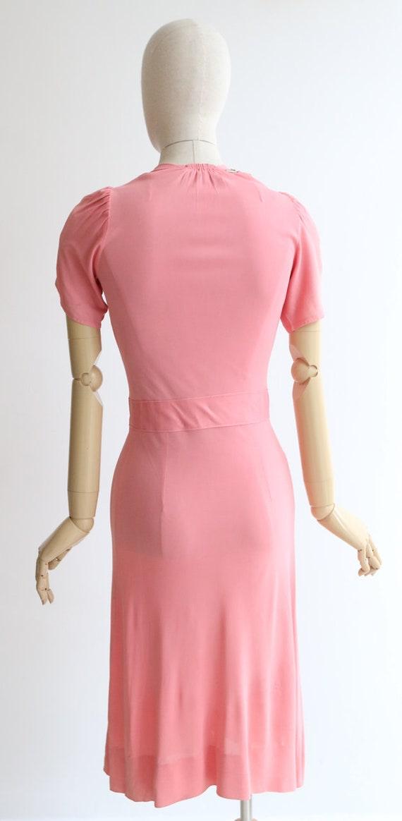 Vintage 1940's dress vintage 1940's pink silk jer… - image 9