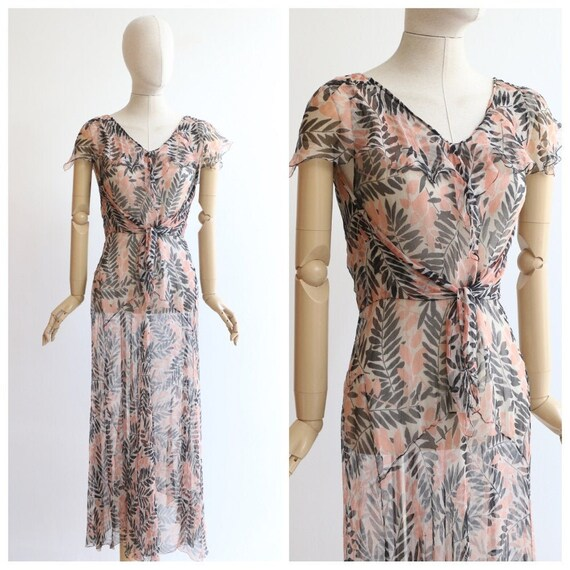 Vintage 1930's Dress vintage 1930's silk chiffon b