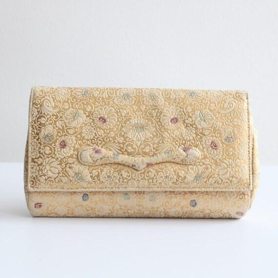 Vintage 1950's clutch bag original 1950's leather