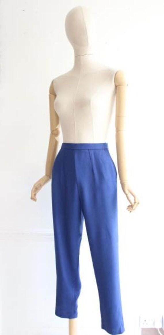 Vintage 1950's trousers 1950's linen trousers peg… - image 5