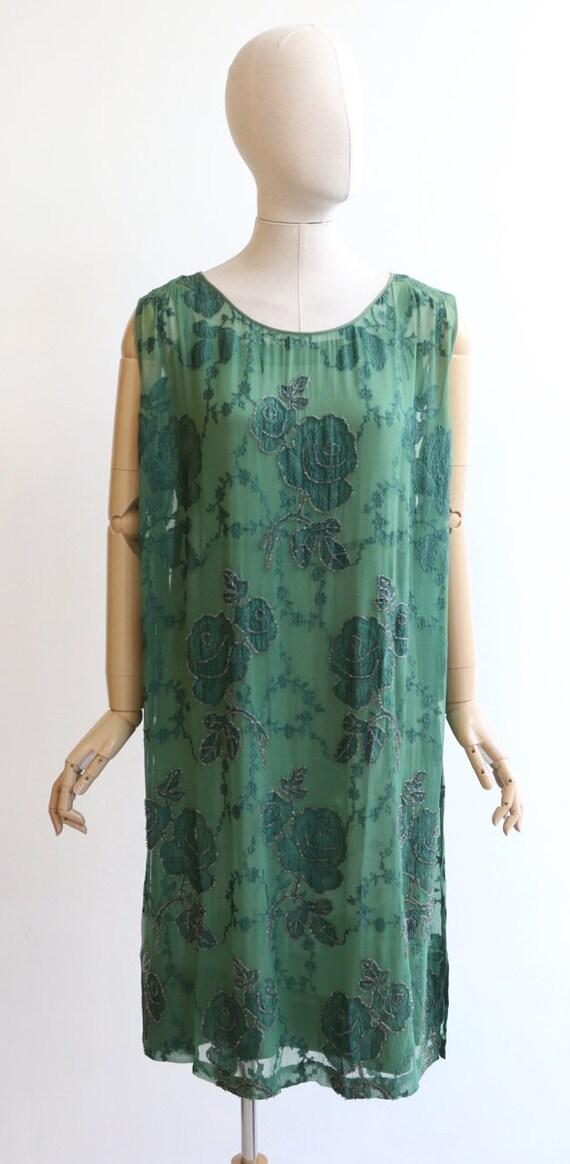 Vintage 1920's dress vintage 1920's flapper dress… - image 2