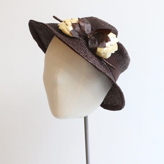 Vintage 1930's straw hat vintage 1930's straw tril