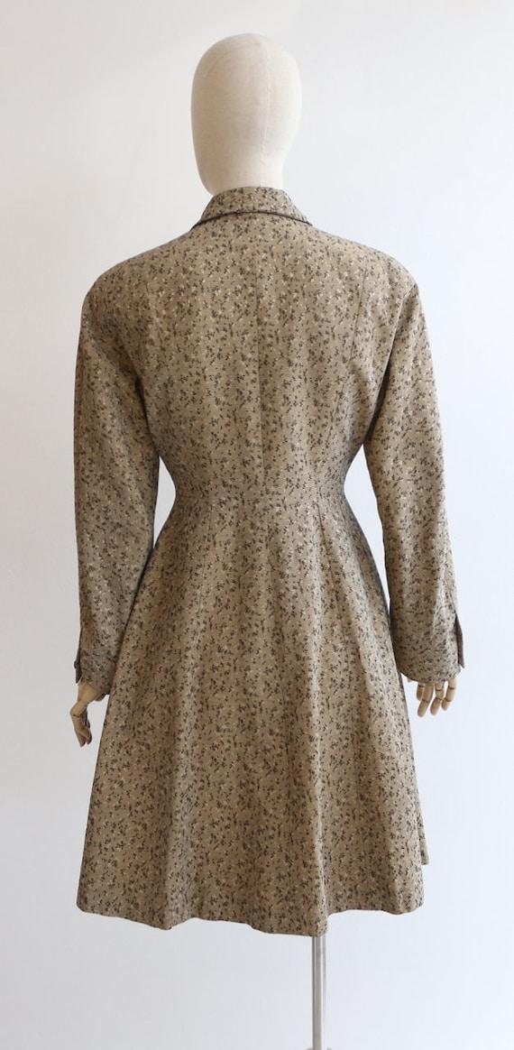 Vintage 1950's coat vintage 1950's gabardine coat… - image 9