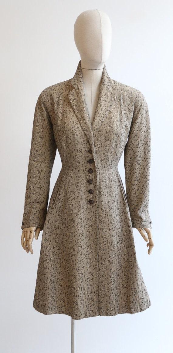Vintage 1950's coat vintage 1950's gabardine coat… - image 3