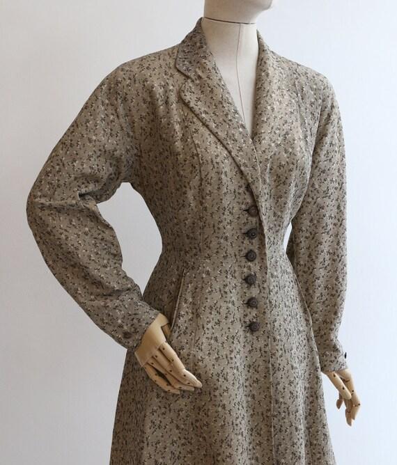 Vintage 1950's coat vintage 1950's gabardine coat… - image 10