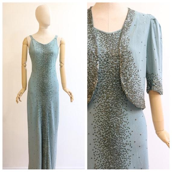 Vintage 1930's dress original 1930's crepe silk dr