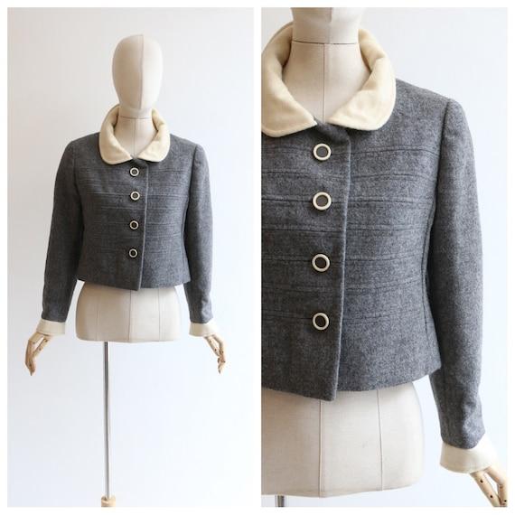 Vintage 1960's jacket vintage 1960's grey wool jac