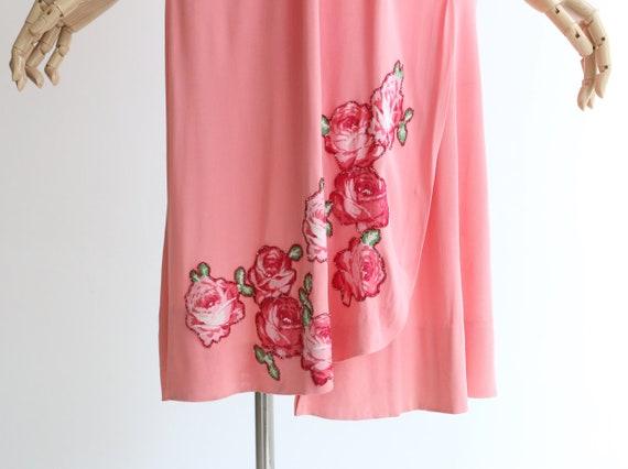Vintage 1940's dress vintage 1940's pink silk jer… - image 5