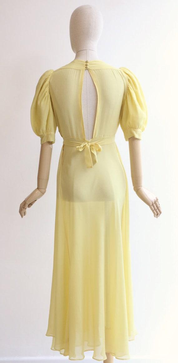 Vintage 1930's dress vintage 1930's silk chiffon … - image 7