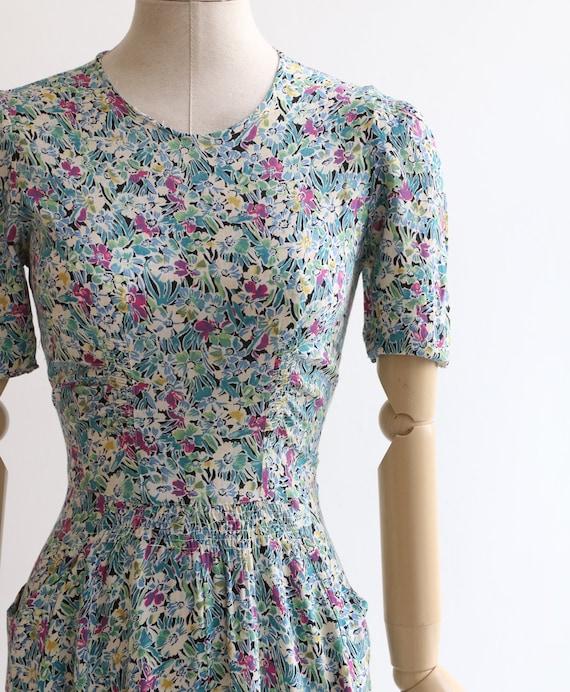 Vintage 1940's dress original 1940's silk dress 1… - image 4