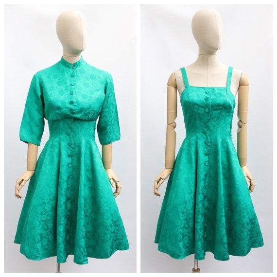 Vintage 1950's dress and jacket vintage 1950's eme