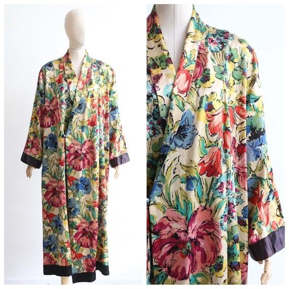 Vintage 1930's satin housecoat vintage 1930's flor