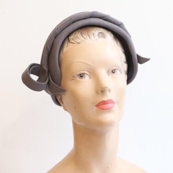 Vintage 1940's hat vintage 1940's hat forties grey