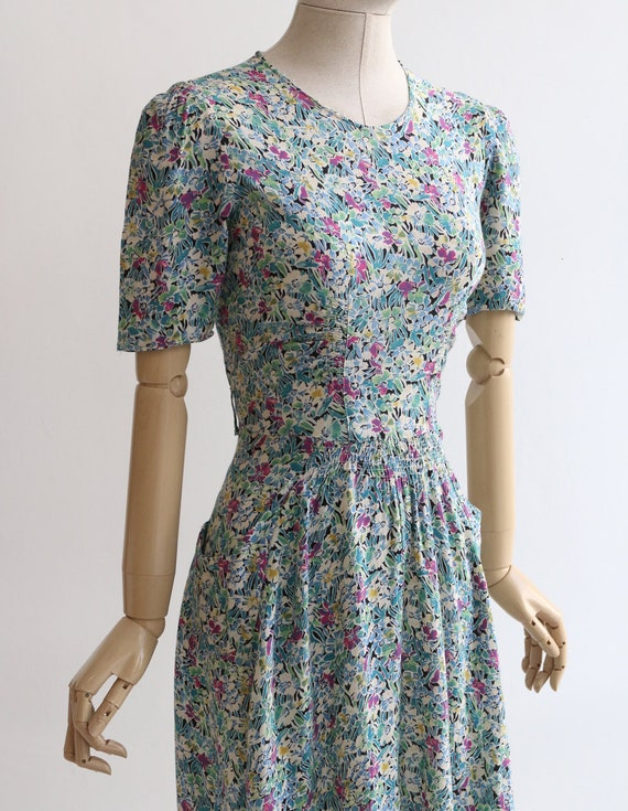 Vintage 1940's dress original 1940's silk dress 1… - image 6