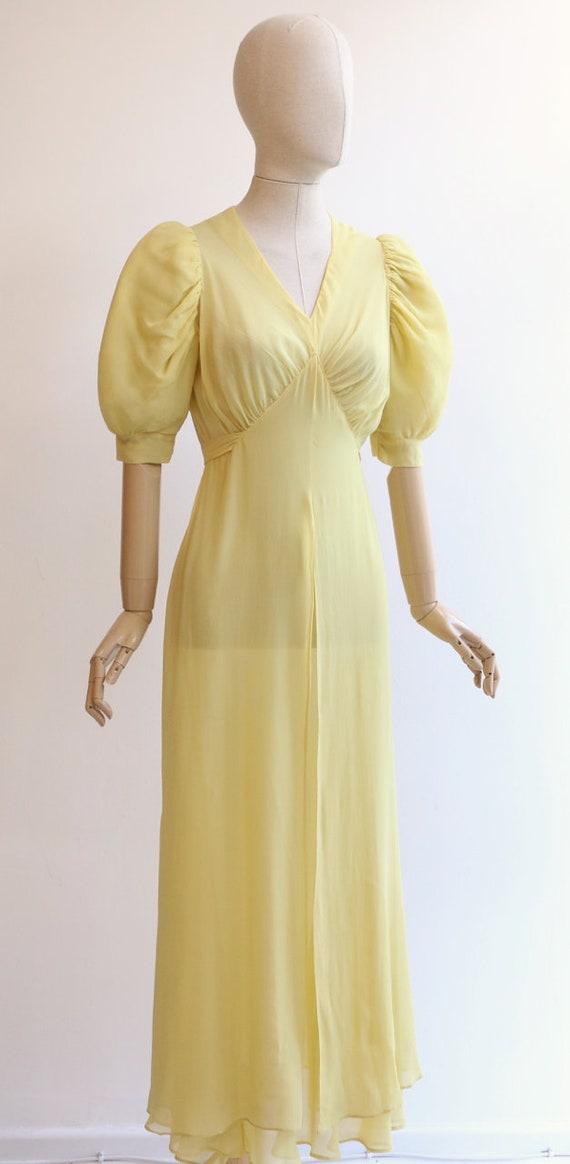 Vintage 1930's dress vintage 1930's silk chiffon … - image 5