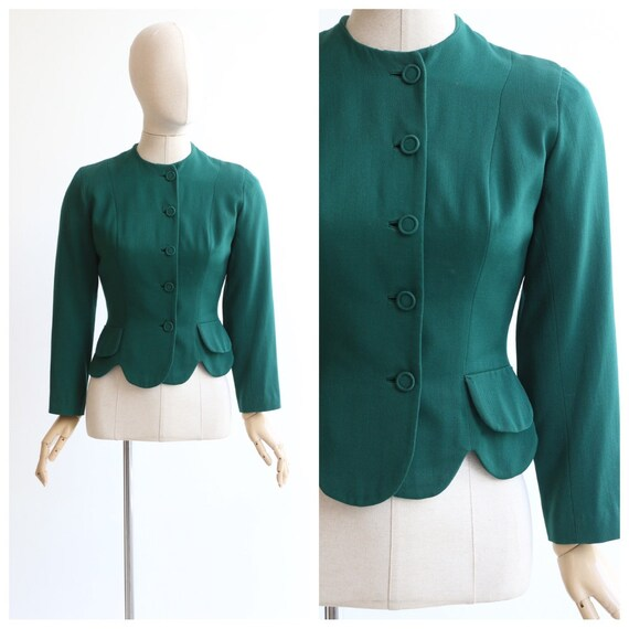 Vintage 1940's jacket original 1940's green jacket