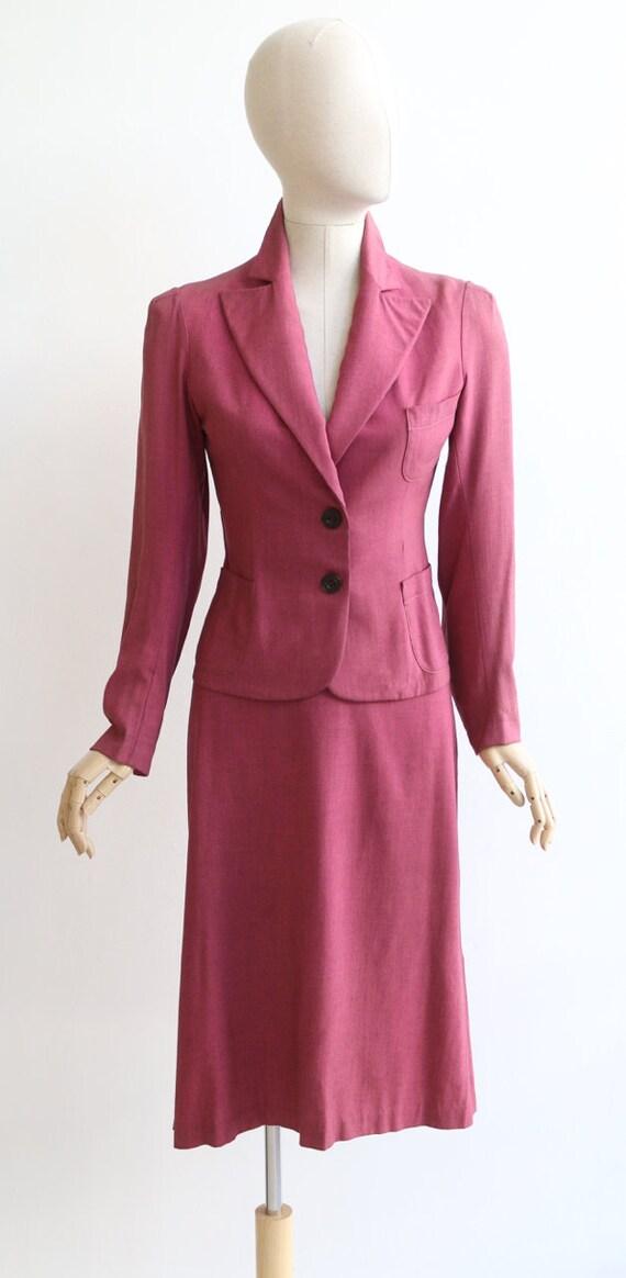 Vintage 1940's suit vintage 1940's skirt suit ori… - image 2