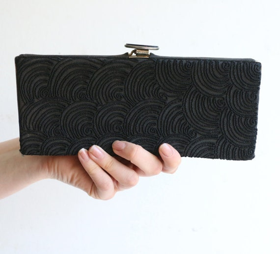 Vintage 1940's bag vintage 1940s clutch bag black