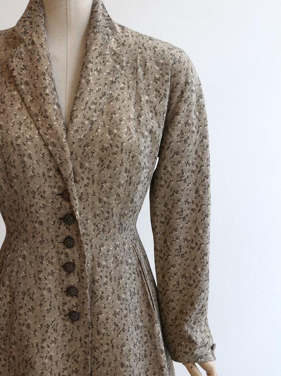 Vintage 1950's coat vintage 1950's gabardine coat… - image 5