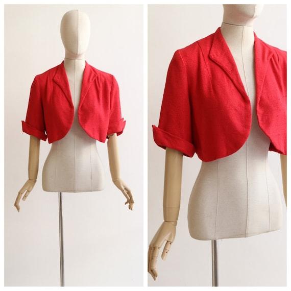 Vintage 1950's jacket vintage 1950's red jacket 19