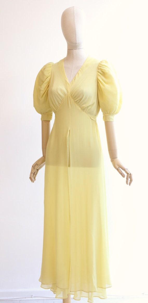 Vintage 1930's dress vintage 1930's silk chiffon … - image 6