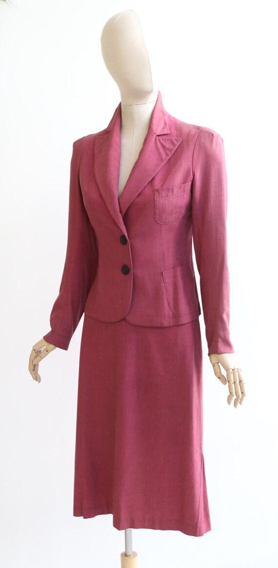 Vintage 1940's suit vintage 1940's skirt suit ori… - image 6