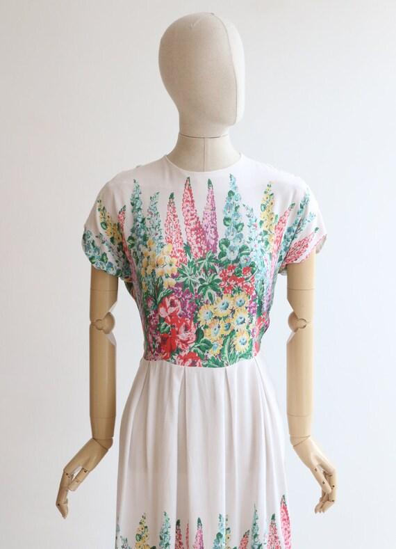 Vintage 1940's dress original 1940's cotton dress… - image 3