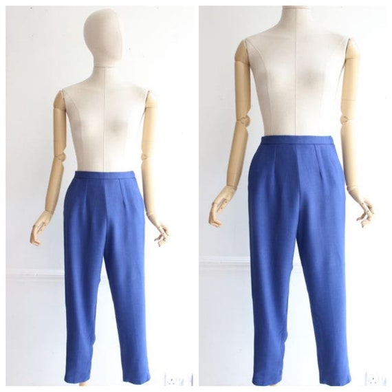 Vintage 1950's trousers 1950's linen trousers pegg