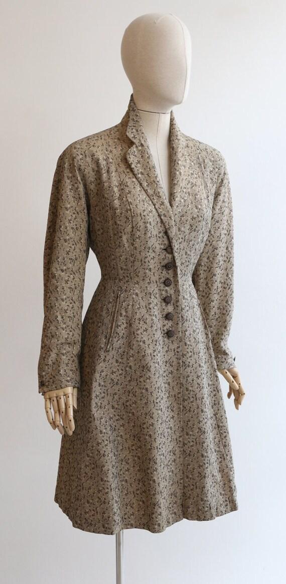 Vintage 1950's coat vintage 1950's gabardine coat… - image 6