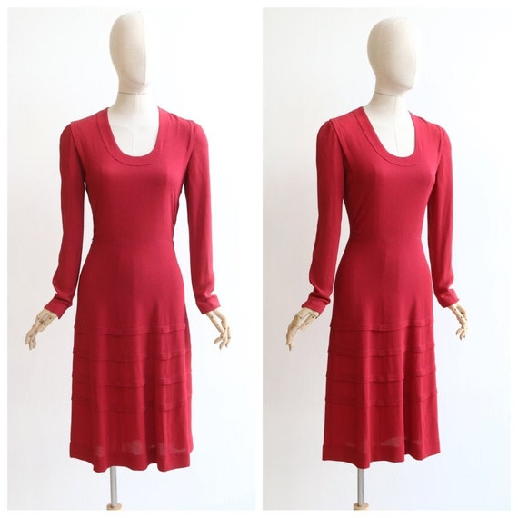 Vintage 1930's dress vintage 1930's crepe silk dre