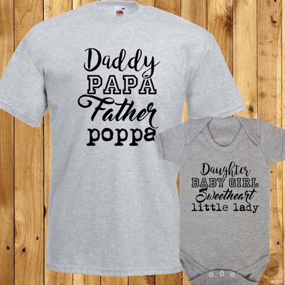 Juego de regalo de la hija de Papá establece Papa Baby Girl  3acbe561264