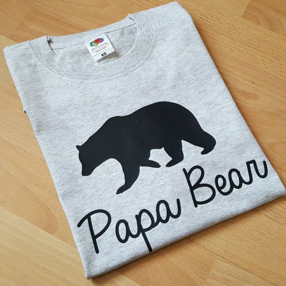 Papa Bear Tshirt Fathers Day Gift Daddy Birthday Present