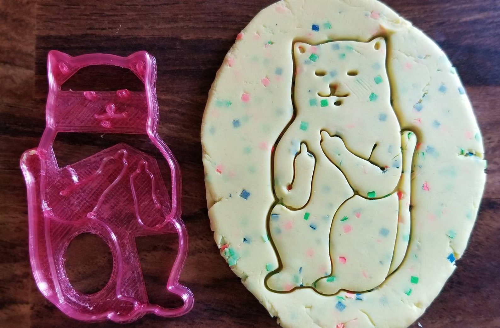 bad cat cookie cutter