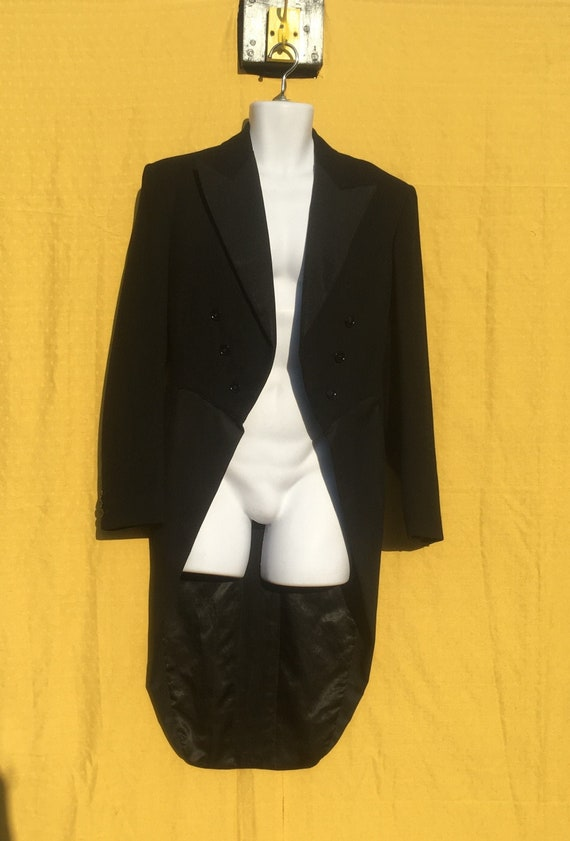 "Vintage 1940/50's ""Burton Montague"" Black wool tai"