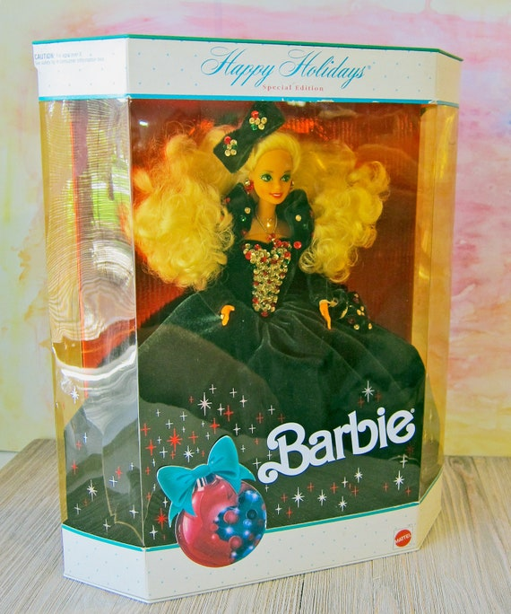 1991 Special Edition Happy Holidays Barbie Doll In Original