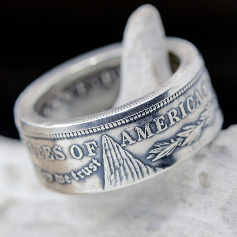 8d6c48fab58c Handcrafted United States Silver Dollar Coin Ring. Hand Forged